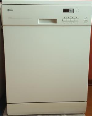 White LG dishwasher