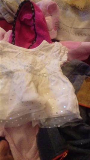 White baby tutu dress with glitter