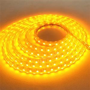 LED STRIP LIGHTS: 12Volts Waterproof SMD5050 YELLOW Colour 5-metre Rolls.