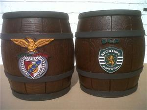 Ice Buckets: Portuguese Football Teams Barrel Design. Brand New Products.