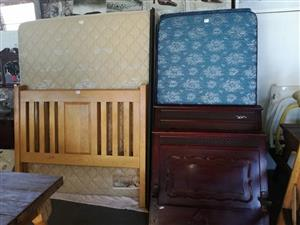 Various headboards and mattresses