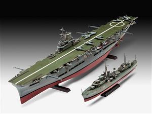 Revell - 1/720 HMS Ark Royal & Tribal Class Destroyer (Plastic Model Kit)