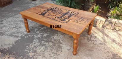 Oak Jack Daniels Coffee Table (1200x750x460)