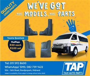 Toyota Quantum MUDFLAPS - Taxi auto parts quality used spares - TAP