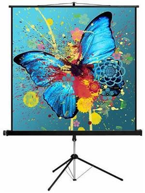 Tripod Projector Screen 150 x 150