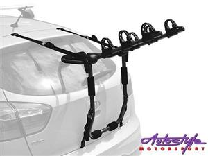 Holdfast 3 bike Boot Carrier  The Holdfast Boot Carrier is a rear door mounted carrier that fits a wide range of vehicles and is easy to use,