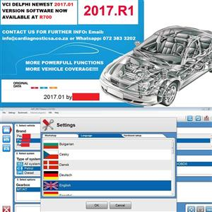 VCI Delphi Newest  2017.01 software now available with Keygen for Multidiag Pro Diagnostic test