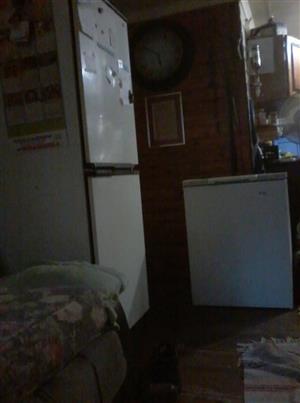 Old fridge and box freezer