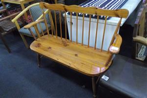 Pine Wooden 2 Seater Bench
