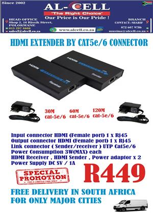 HDMI EXTENDER BY CAT5e/6 CONNECTOR