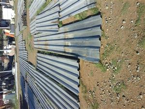 Second hand corrugated iron