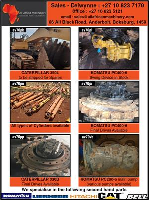 Earth Moving Equipment And Spare Parts