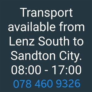 Lift club to Sandton City From Lenasia South