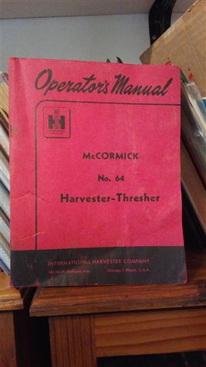 McCormic / Harvester = Thresher: technical manual