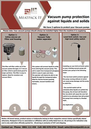 Vacuum pump protection