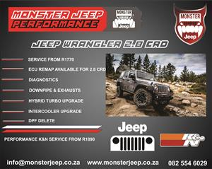 JEEP WRANGLER 2.8 CRD SERVICES & ECU REMAPPING