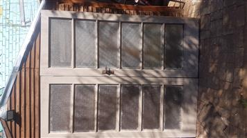 Double doors with glass