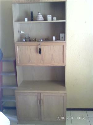3 Piece Wall Units with glass doors.