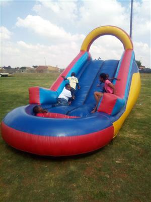 Shade net and jumping castle