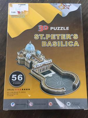 Iconic 3D puzzle of  St.Peters Basilica Church - new and sealed in box