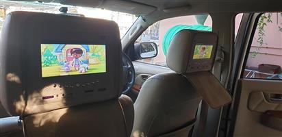 Dvd player headrest