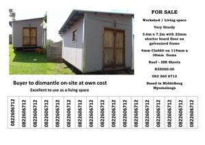 Workshop / tool shed / living space for sale