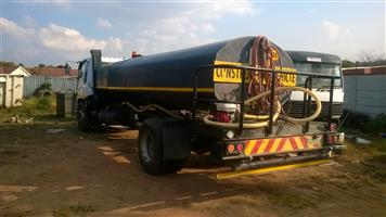Various size water trucks available for hire.