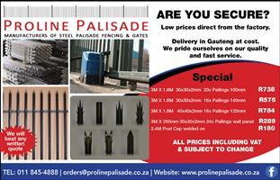 FENCING PALISADE - PROLINE PALISADE CC 0118454888