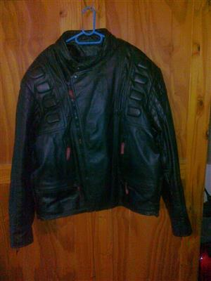 All leather bikers jacket