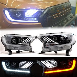 Ford Ranger T7 Mustang style LED projector headlight