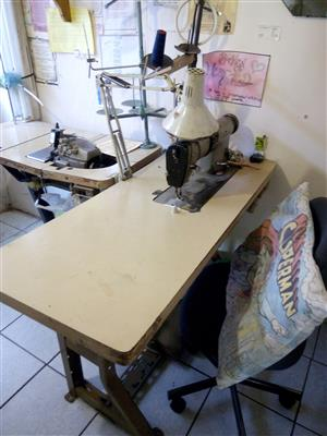INDUSTRIAL SEWING MACHINE AND OVER LOCKER