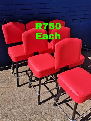 Bar stools, visitors, high and medium back office chairs