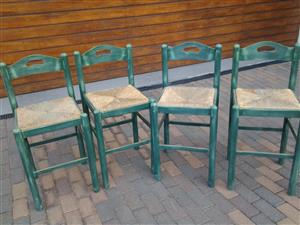 Barstools x 4 chairs