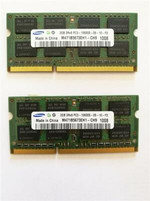 2x Samsung 2GB Ram Sticks (4GB Ram Upgrade)