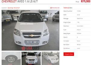 2014 Chevrolet Aveo 1.6 LT sedan