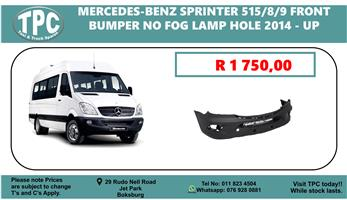 Mercedes-Benz Sprinter 515/8/9 Front Bumper no Fog Lamp Hole 2014 - UP - For Sale at TPC.