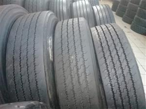 SECOND HAND TRUCK  TYRES,GOOD DISCOUNTS OFFERED,GUARANTEED