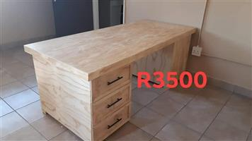 Light wooden desk with drawers for sale