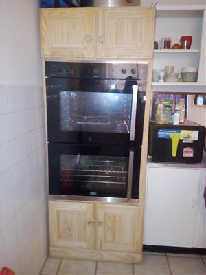 Defy Double oven & cupboard