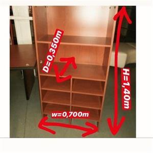 Cherrywood finish book shelves