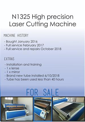 130W laser cutting Machine (1.3m x 2.4m)