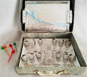 Mini glass set for sale