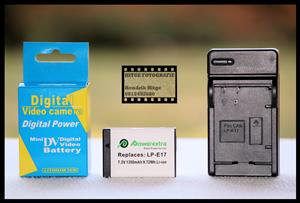 LP-E17 Battery & Charger Combo Set for Canon