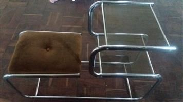 Glass Table with seat