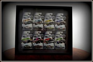 Full set of 8 hot wheels 50thĺanniversary cars framed