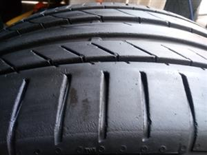 225/45R18 CONTINENTAL (RUNFLAT) TYRES FOR SALE