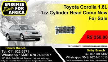Toyota Corolla 1.8L1zz Cylinder Head Compete New For Sale.