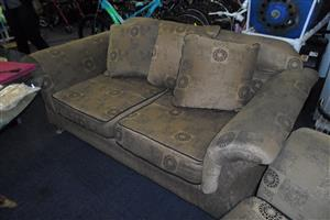 2x 2 Seater Material Couches