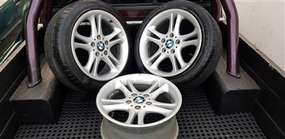 X3 17 BMW OEM Mags with Two Tyres