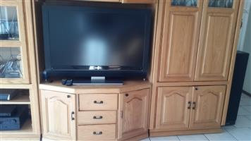 Solid Oak Wall Unit